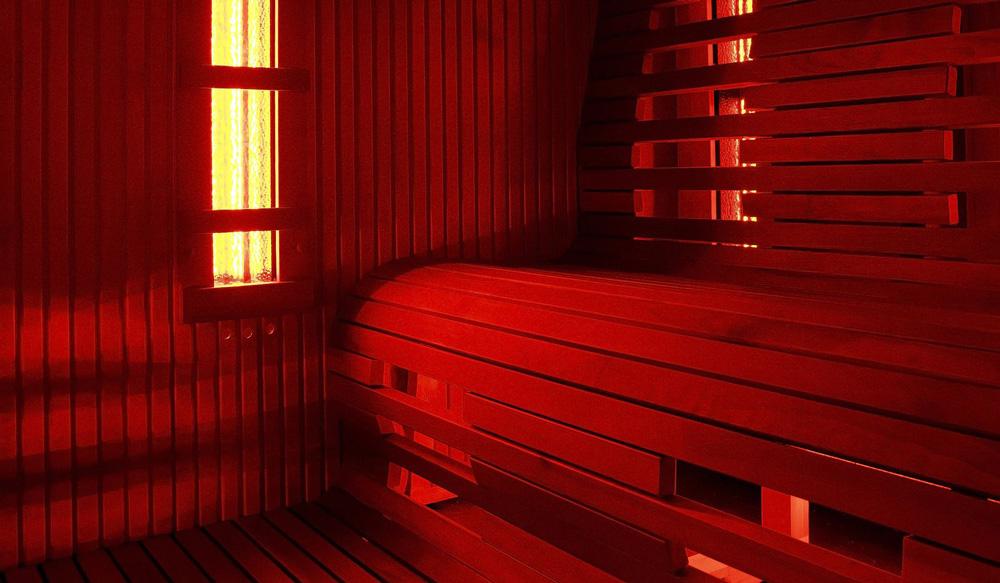 Scorcio di una sauna infrarossi - MsPiscine